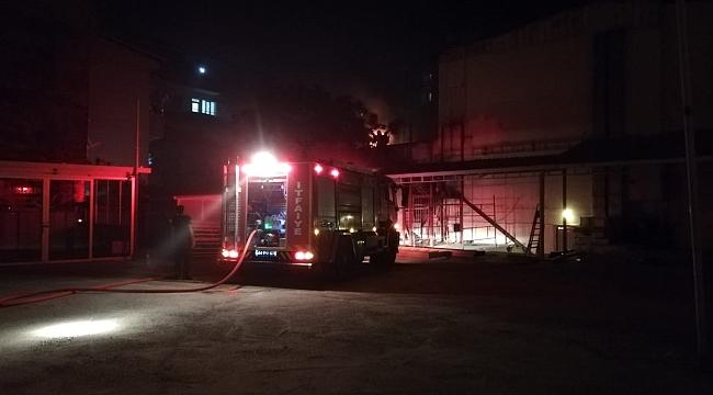 Malatya'da Çatı Yangını Korkuttu